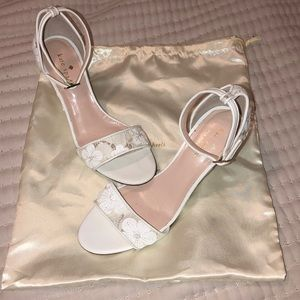 Kate Spade white wedges